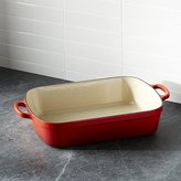 Crate & Barrel Le Creuset ® Signature 5.25-qt. Cerise Red Roaster
