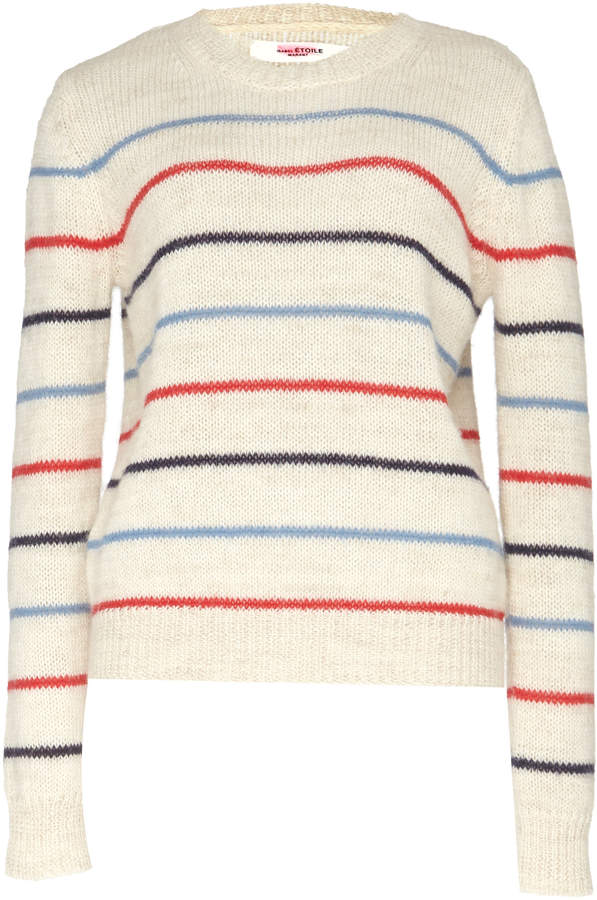 Etoile Isabel Marant Gian Striped Alpaca-Blend Sweater