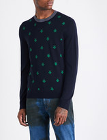 Gucci Bee-embroidered wool jumper