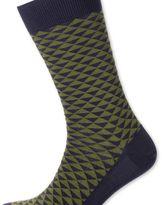 Charles Tyrwhitt Khaki triangle socks