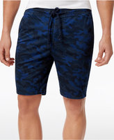 American Rag Men's Stretch Camo Twill Drawstring Jogger Shorts, Only at Macy's