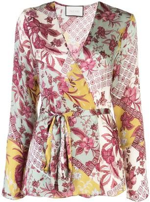 Alexis Kalindi floral wrap blouse