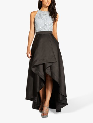 Adrianna Papell Mikado Maxi Skirt, Black