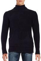 Laboratory Lt Man Pouch Pocket Turtleneck Sweater