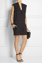 Alexander Wang Distressed cotton-twill playsuit