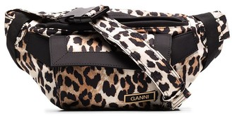 Ganni Leopard-Print Belt Bag