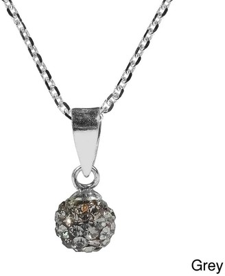Aeravida Handmade 6mm Cute Crystal Disco Ball .925 Silver Necklace