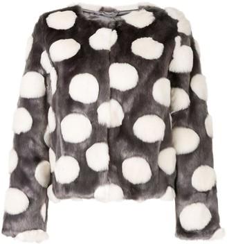 Unreal Fur faux fur Bubbles Jacket