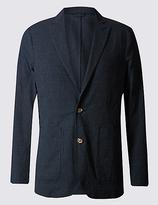 Best Of British For M&s Collection Mini Grid-Checked Seersucker Blazer