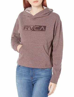 RVCA Junior's LATERAL Pullover Hooded Fleece Sweatshirt