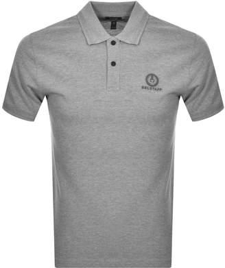 Belstaff Short Sleeved Polo T Shirt Grey