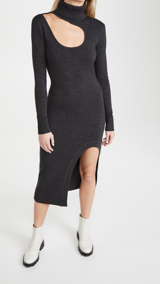 Monse Kidney Bean Cutout Knit Dress