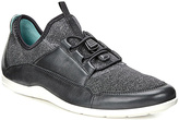 Ecco Black & White Bluma Trainer - Women