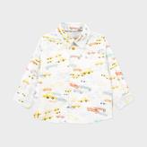 Paul Smith Baby Boys' White Car Print 'Moreno' Shirt