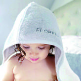 MORI Luxury Personalised Baby And Toddler Bath Towel Gift