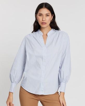 Banana Republic Oversized Puff-Sleeve Shirt