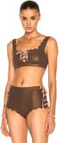 Marysia Swim Palm Springs Bikini Tie Top in Brown,Metallics.