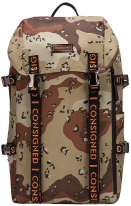 Consigned Torrett Twin Pocketed Flapover Backpack Desert