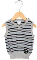 Moschino Boys' Striped V-Neck Sweater