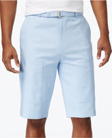 Sean John Men's Big & Tall Belted Flight Linen Shorts