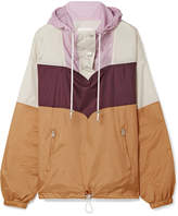 Etoile Isabel Marant Cyriel Color-block Shell Hooded Top - Mustard