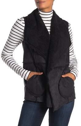 Caslon Reversible Faux Shearling Vest (Regular & Petite)
