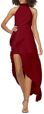 Halston Draped Georgette Gown - 100% Exclusive