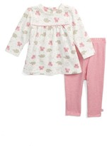 Offspring Infant Girl's Pink Elephant Tunic & Leggings Set