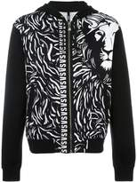 Versus lion print hooded cardigan