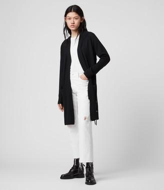 AllSaints Cross Merino Wool Cardigan