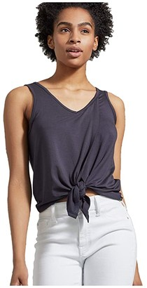United By Blue Tie Front Tank (Graphite) Women's Clothing