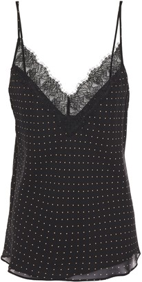 Bailey 44 Kate Lace-trimmed Polka-dot Chiffon Camisole