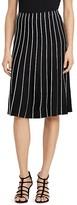 Lauren Ralph Lauren Piping Stripe A-Line Skirt