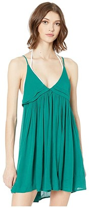 O'Neill Saltwater Solids Tank Dress Cover-Up (Teal) Women's Swimwear