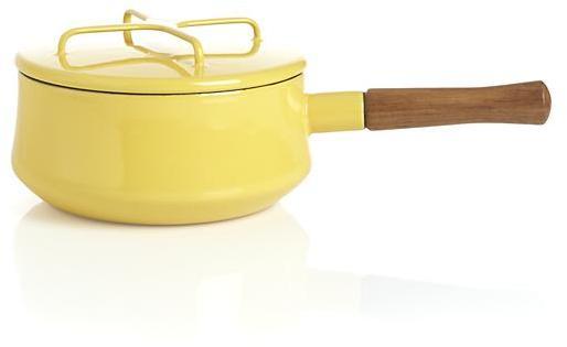 Dansk Kobenstyle Yellow 2-Quart Sauce Pan