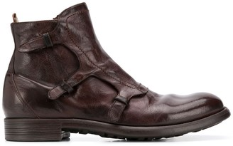 Officine Creative Chunky Zip-Up Monk Boots