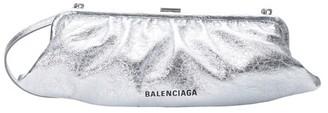 Balenciaga Cloud metallic clutch XL with stap