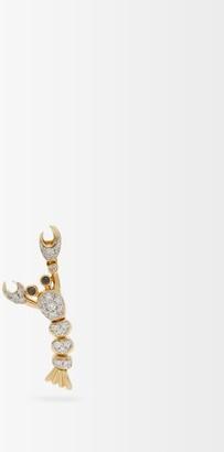 Yvonne Léon Lobster Diamond & Gold Single Earring - Yellow Gold
