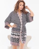 Soma Intimates Wayside Short Robe Wrap Blush Pink/Black