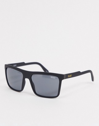 Quay Legacy mens retro sunglasses in black