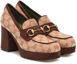 Gucci Horsebit Original GG loafer pumps