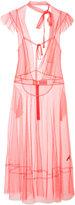 Les Animaux - tie-neck sleeveless dress - women - Nylon/Polyester - S