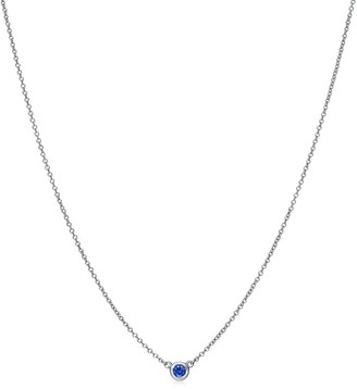 Tiffany & Co. Elsa Peretti Color by the Yard pendant in platinum with a sapphire