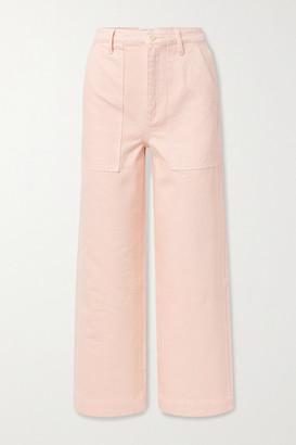 Alex Mill Patrick Cropped High-rise Wide-leg Jeans - Pastel pink