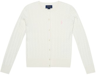 Polo Ralph Lauren Kids Cable-knit cotton cardigan