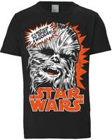 Logoshirt Chewbacca Print Tshirt Schwarz