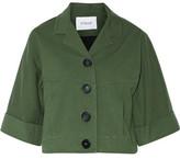 Derek Lam 10 Crosby Cropped Cotton-Blend Twill Jacket