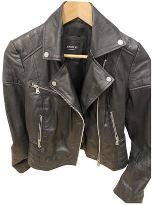 Barneys New York Black Leather Leather Jacket for Women
