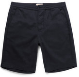 Oliver Spencer Brushed-Cotton Twill Drawstring Shorts