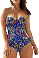 Passionate Adventure Women's Retro Plus Size One Piece Monokini Bikini Backless Maillot Swimwear Various Styles for Choice
